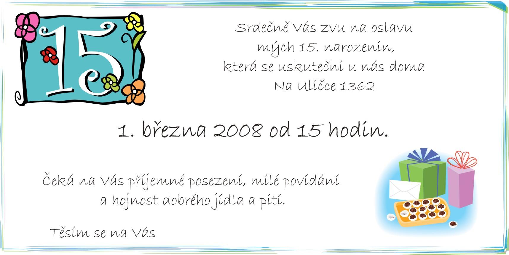 text na pozvánku k narozeninám Dílna u Terezky  nápady od jara až do zimy! text na pozvánku k narozeninám